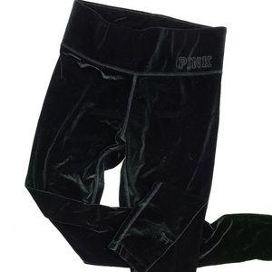 PINK Victoria's Secret Velvet Leggings XS Green